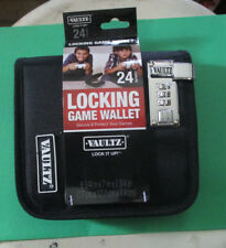 Game DVD CD Wallet - 24 Capacity Locking Vaultz Protective Combination lock New