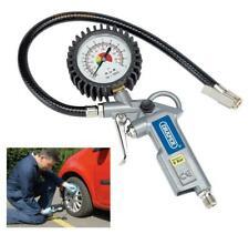 Draper 10604 Car Van Motorbike Air Line Tyre Inflator Pump With Gauge Compressor
