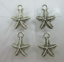 Wholesale 30pc Retro Style starfish ancient silver Charms Pendants 16x12mm