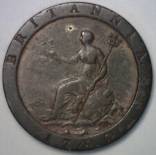 1797 Copper British Cartwheel One Pence UK George III Penny Britain English Coin