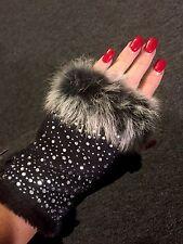 New Sylvia Alexander texting gloves Black Crystal