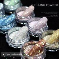 New Crystal Diamond Nail Powder Drilling Powder Colorful Powder Nail Art A4I5