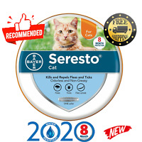 Bayer Seresto Flea and Tick Collar For Cat 8 Months Protection Treatment New