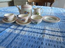 WEDGWOOD CHINA MINIATURE CHILDREN;S PLAY TEA SET.2001. MINT, RARE.COLLECTABLE