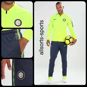 🔥 Nike Inter Milan 17/18 Dry Squad Tracksuit | Men's Size M Medium | 855406-706