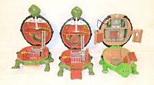 3 VINTAGE 1994 TEENAGE MUTANT NINJA TURTLES MINI-MUTANT PLAYSETS LEO + RAPH