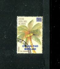Cocos Keeling Islands, O1,  CTO, Coconut Palm Tree 1991 SCV-$130 x20306
