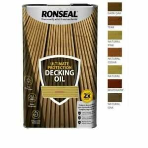 Ronseal ULTIMATE Protection Decking Oil   Waterproof Sun Rain Protector 2.5/5L