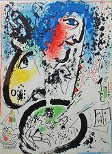 Marc Chagall - Self Portrait (M.282) - Original Mourlot Color Lithograph