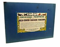 Curro, Evelyn AMERICANA PRINTBOOK NO.5: OLD CIRCUS PARADE WAGONS 12 Color Lithog