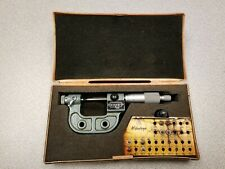 Mitutoyo 0 25mm Metric Digit Thread Pitch Micrometer 226 125 Locking Ratcheting