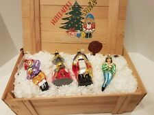 Christopher Radko 1996 Nutcracker Suite-Ltd Ed. Set of 4 Xmas Ornaments-Wood Box