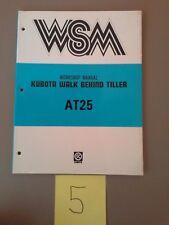 Kubota At25 Walk Behind Tiller Workshop Service Repair Manual Wsm A