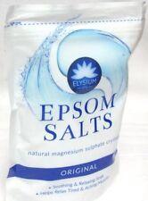 3x Elysium Epsom Bath Salts Original Magnesium Sulphate Relaxing Soak 450g