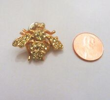 gemstones Pin Brooch golden Bumblebee with clear
