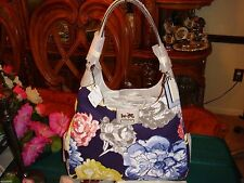 NWT Coach 23351 Madison Floral Maggie Handbag Navy Multi MSPR $328