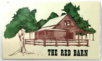 1987 THE RED BARN Restaurant Original Vintage Menu Large & Laminated