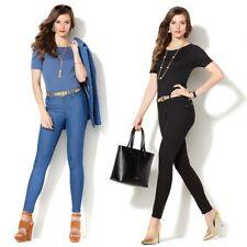$98 IMAN Global Chic Slip into Slim Denim Pant and Matching Top 460386-J $39.90