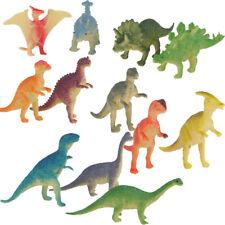 12pc Mini Dinosaurs Plastic Animal Triceratops T Rex Brachiosaurus Kids Toys