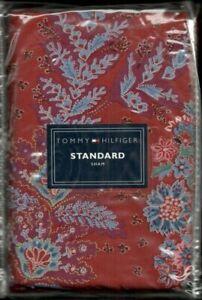 Tommy Hilfiger Gypsy Farmhouse Red Blue Standard Sham Bandana Calico New