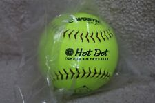Ahd12Cy Worth Asa Softball Syco Optic Yellow Hot Dot 300 lbs/.52 Cor (Box of 9)