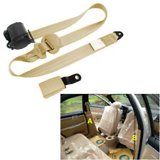 Universal 3 Point Retractable Car Safety Seat Belt Iron Plate Style Nylon Straps