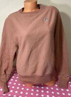 NWT Victorias Secret PINK Graphic Campus Crewneck Pullover Sweatshirt XS