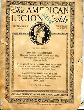 The American Legion Weekly Magazine September 3 1920 ACC 042717nonjhe