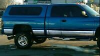 """fit:1994-1997 Dodge Ram Extended Cab Short Bed Rocker Panel Trim 8.5"""" Stainless"""