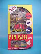 VINTAGE PIN-BALL GAME * ARMED FORCES THEME * MIRAGE PT BOAT UNUSED MIB 1970's