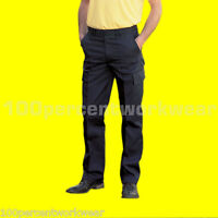 Uneek UC902 Mens Work Cargo Combat Black Navy Trousers Pants Short Reg Tall Size