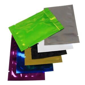 Open Top Heat Seal Foil Bags Different Colours Aluminium Foil UK Stock Free Post