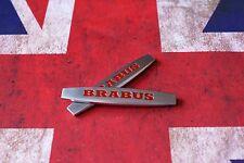 2 × Emblem Badge Decal Trunk Rear Metal for Brabus AMG CLS Mercedes matt E03
