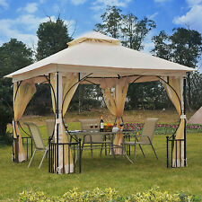 10 x 10 ft Outdoor Gazebo Canopy Garden Patio Wedding Party Shelter W/Netting