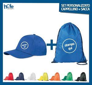 Sacca Personalizzata e Cappellini Personalizzati Abbigliamento Promozionale Kit