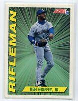 1991 Score KEN GRIFFEY JR. Rare RIFLEMAN SUBSET CARD #697 Seattle Mariners HOF