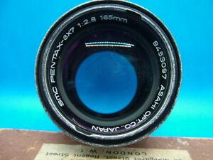 Vintage Asahi SMC Pentax, 6x7, 165mm, f2.8, Lens with Hood.
