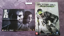 POSTERS THE LAST OF US + POSTER TOM CLANCY'S SPLINTER CELL BLACKLIST NEUF