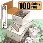 """NiftyPlaza 100 Extra Large Safety Pins Size 2"""" Quilters Crafting Diapers Sewing"""