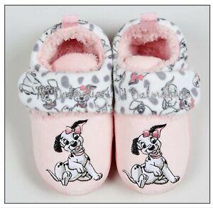 Girls Disney 101 Dalmatians Pink Slippers Character UK Sizes 6 7 Infant NEW