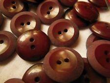 lot 12 boutons rouge  lie de vin 2 trous mercerie couture diamètre: 1,7 cm