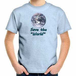 Earth Day Gift Shirts Teddler Kids Boys Girl Tee Youth T-Shirt Save World Planet