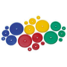 100 Piece Assorted Gear Pack Plastic Cog Wheels Models Crafts Gears Coloured
