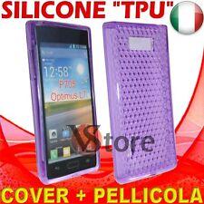 Cover Custodia Per LG Optimus L7 P700 Viola Gel Silicone TPU