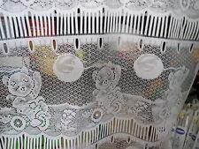 rideaux L 45 cm neuf chat en vélo avec ballon vendu par tranche de 20 cm