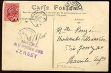 Channel Islands JERSEY 1906 PPC ANG BM GRANVILLE Mobile Box x2 postmark