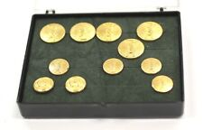 YSL YVES SAINT LAURENT 11 Pieces Set of Gold Tone Buttons - S25