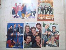 5 N´SYNC magazine poster centerfold NSYNC Justin Timberlake Lance Bass