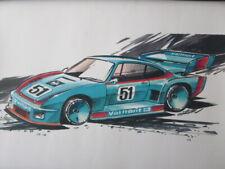 New ListingVintage Kremer Racing Porsche 935 Design Sketch Print - Nottrodt Designer