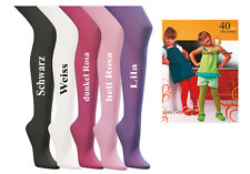 Kinder Feinstrumpfhose Microfaser Strumpfhose  40 DEN 104-146 Mädchen Blickdicht